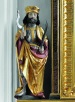 Wetterpatron St. Johannes, spätgotische Figur am rechten Seitenaltar