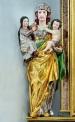 Hl. Anna selbdritt, Barockfigur am linken Seitenaltar