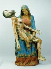 "Gotisches Vesperbild, ""Salmdorfer Pietà"", um 1340"