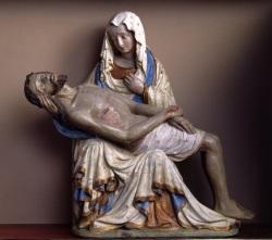 Detailansicht Pieta im Dom