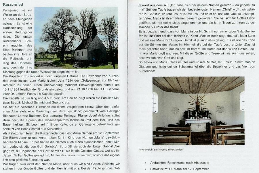 Kurzenried Kapelle