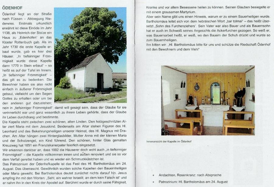 Ödenhof Kapelle