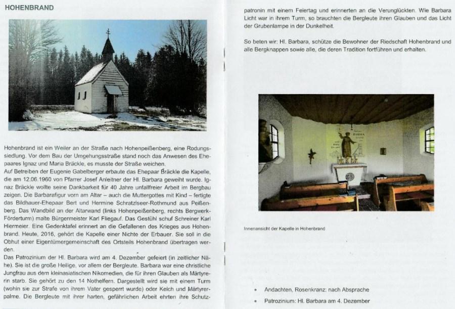 Hohenbrand Kapelle
