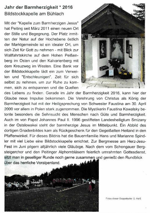 Bildstockkapelle Bühlach