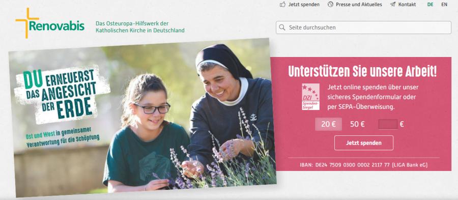 Homepage Renovabis
