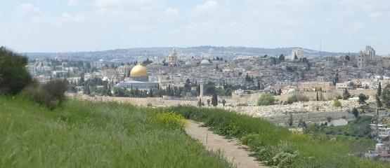 Blick auf Jerusalem vom Skopusberg