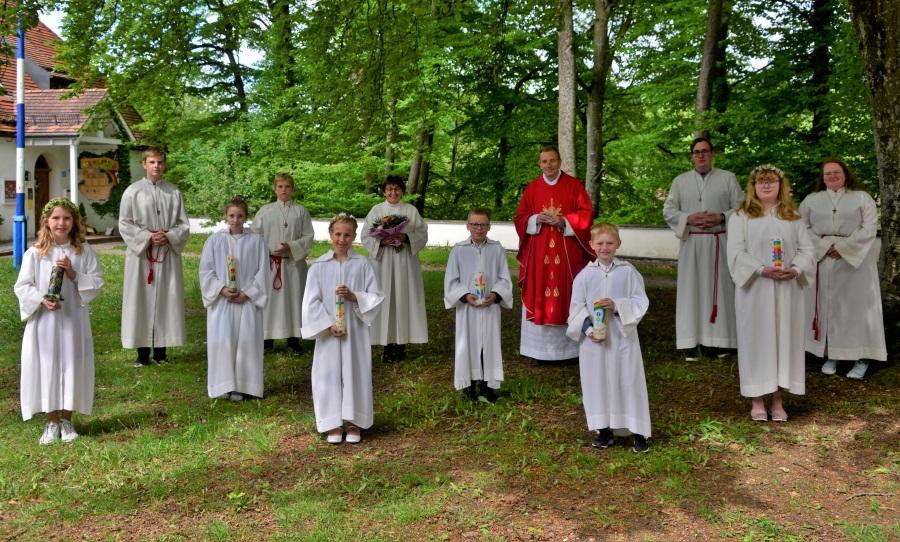 Erstkommunion Schwarzau Gruppenbild