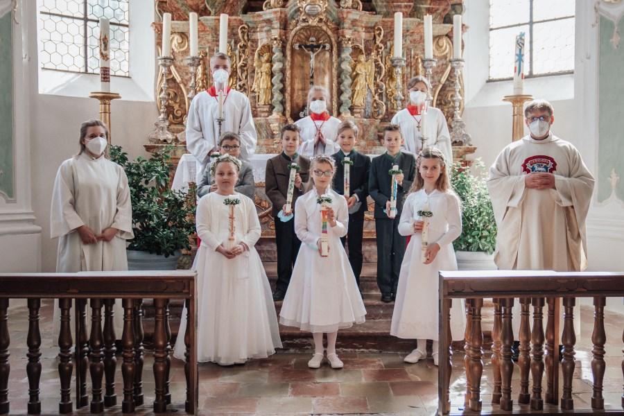 Erstkommunion Beyharting 2021 Gruppenbild