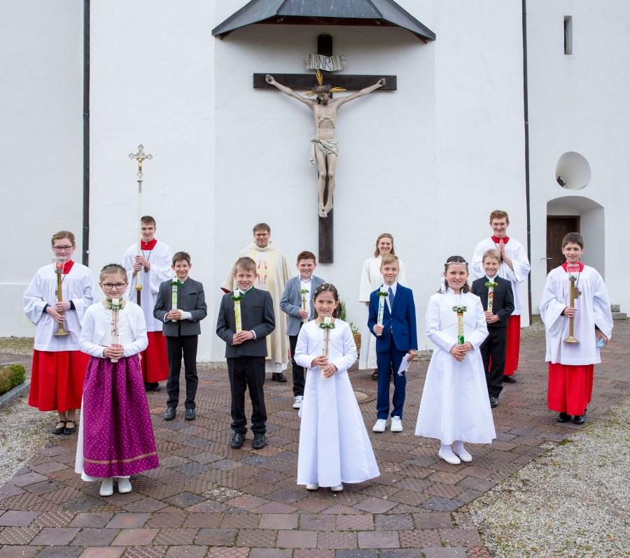 Erstkommunion Schönau 2021 Gruppenbild
