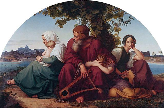 Eduard Bendemann: Die trauernden Juden im Exil, circa 1832
