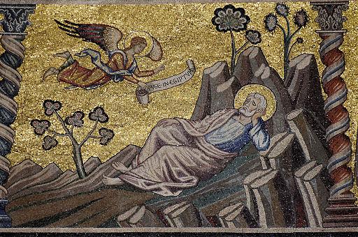 Mosaik Jakobs Traum, Baptisterium San Giovanni, Florenz