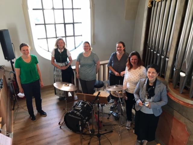 Mitglieder der Kirchenband 2021