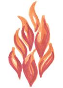 Flamme Zeichnung
