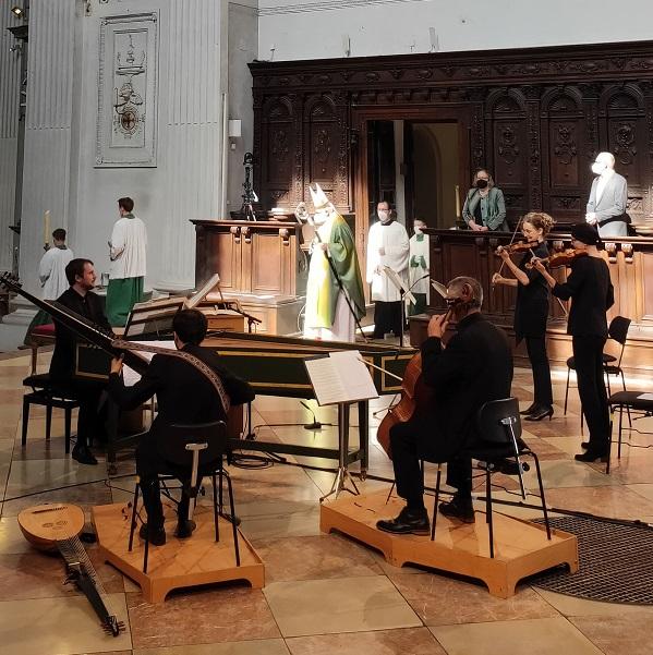 Musiker beim Opernfestspielgottesdienst 2021