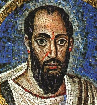 Paulus, Mosaik, Oratorium S. Andrea Ravenna, 5. Jh.