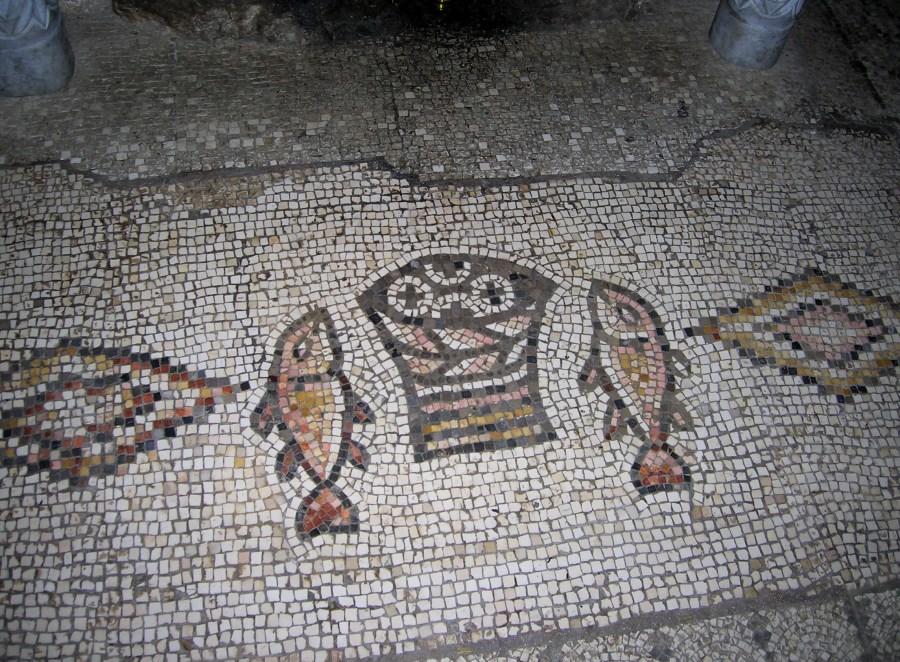 Mosaik Brot und Fische