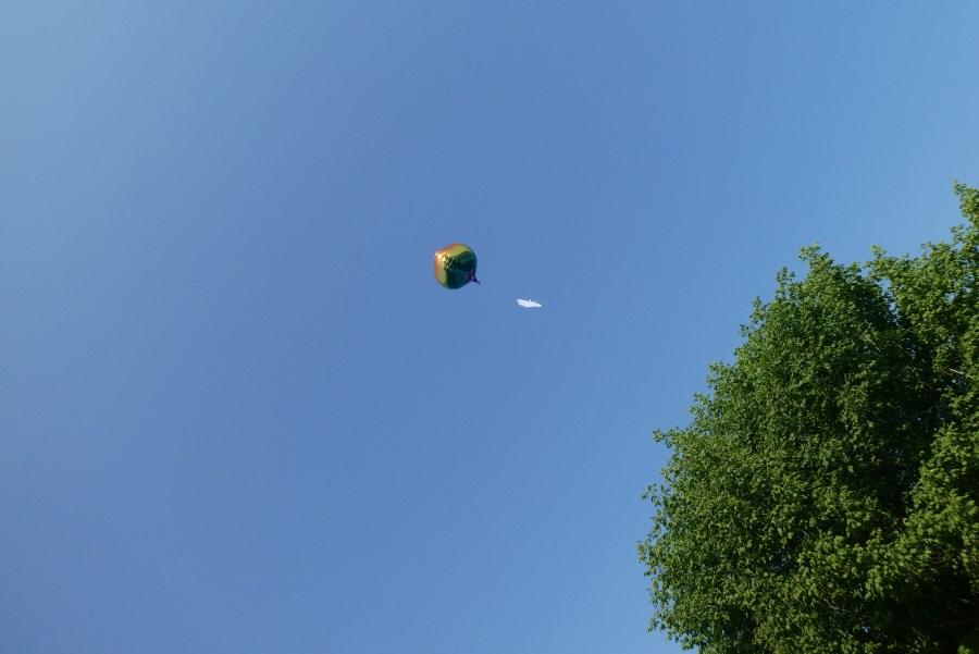 Luftballon fliegen
