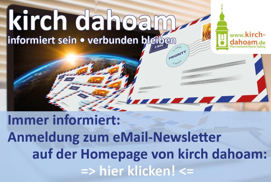 kirch dahoam Newsletter