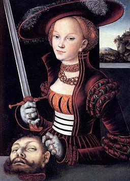 Judith mit dem Haupt des Holofernes, Öl auf Lindenholz, 75 x 56 cm Künstler: Lucas Cranach der Ältere Jahr: 1530 Ort: Jagdschloss Grunewald, Berlin