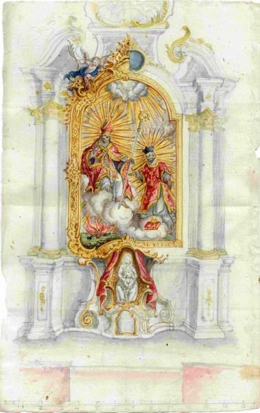 Altarentwurf Wilparting 1776