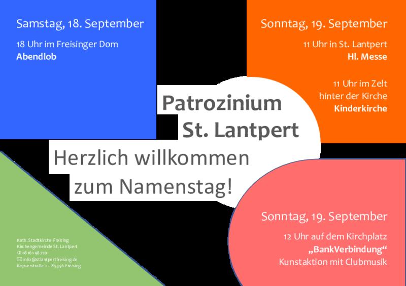 Plakat Patrozinium St. Landpert