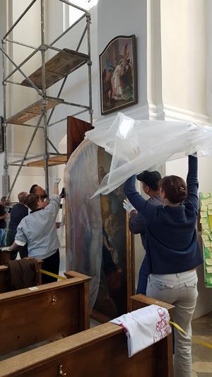 Aufhängen Gemälde