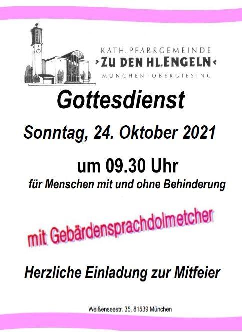 Plakat Gottesdienst 24.10.2021