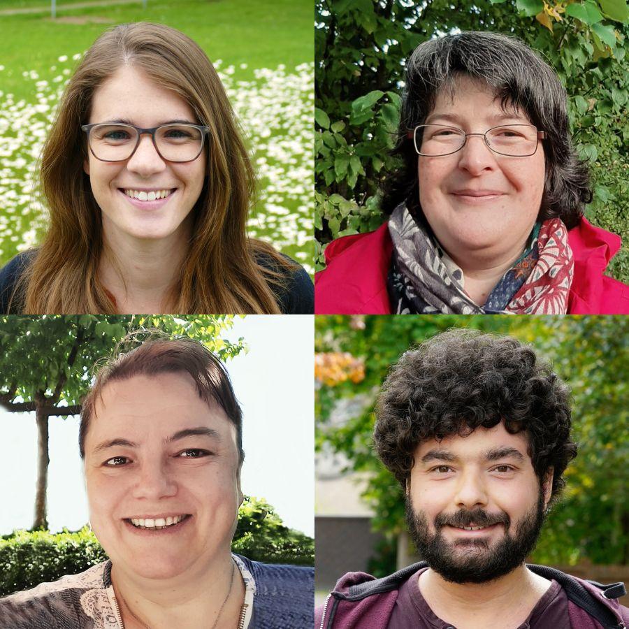 Gemeindereferentinnen Conny Doppelberger, Julia Eder und Marlene Goldbrunner und Gemeindereferent Christopher Martin