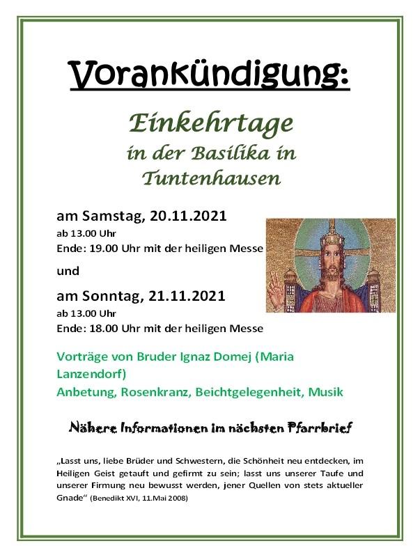 Vorankündigung Tuntenhausen