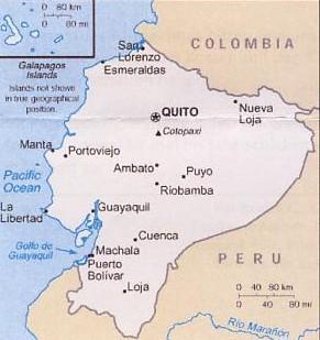 Ecuador, Karte