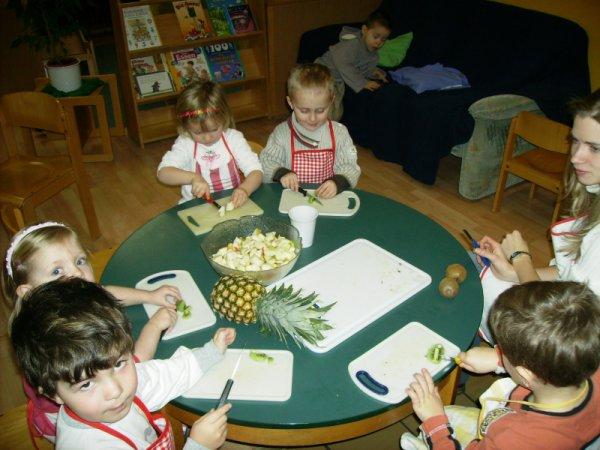Kochen im Kindergarten