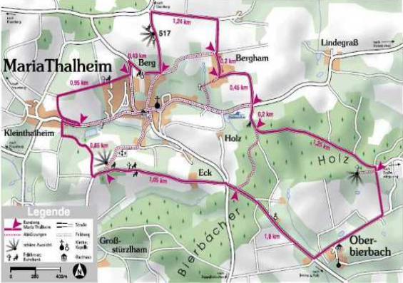 Karte Marienweg