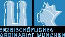 Erzbischöfliches Ordinariat München mit Münchner Domtürmen und Freisinger Mohr