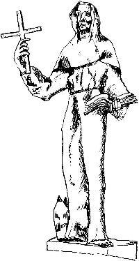 Der heilige Bernhard, gez. von Herrn Deschauer