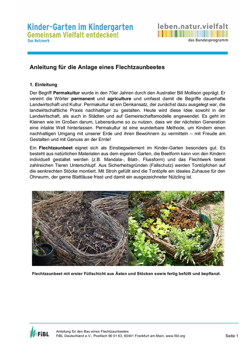 Anleitung Permakulturbeet (PDF)