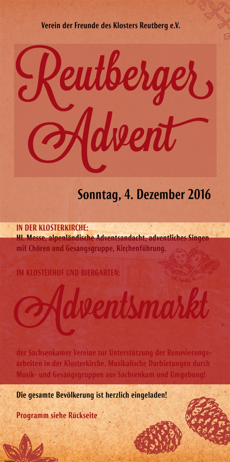 Plakat Reutberger Advent